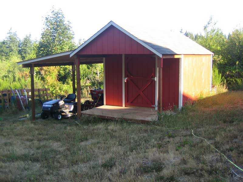 10x16 rancher w4 porch and lean to - Garden Sheds With Lean To