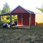 10'x16' Rancher w/4' Porch and Lean-To