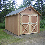 10'x20' Tall Rancher w/ eaves, wide door