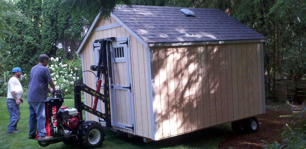 Northwest shed movers cabin shed gazebo and barn moving for How to move a building